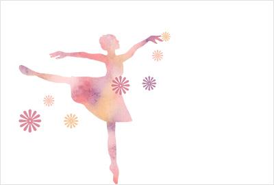 バレエイラスト年賀状5