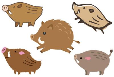 猪の無料イラスト