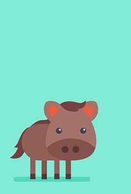 シンプル猪の無料素材1