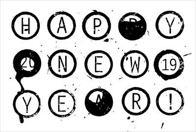 VIDUALLOCKERの年賀状デザイン2