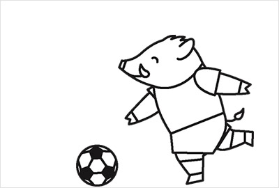 サッカーイラスト年賀状4