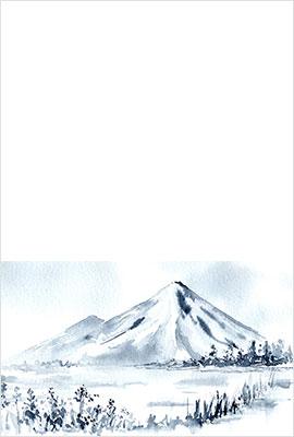 水墨画風年賀状10