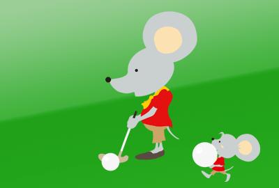 ゴルフの無料イラスト2