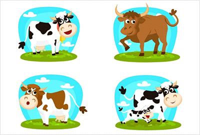 干支牛のかわいい無料イラスト