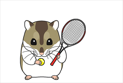 テニスイラスト年賀状4