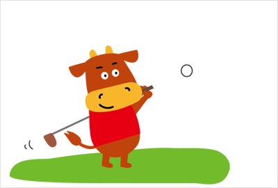 ゴルフの無料イラスト3